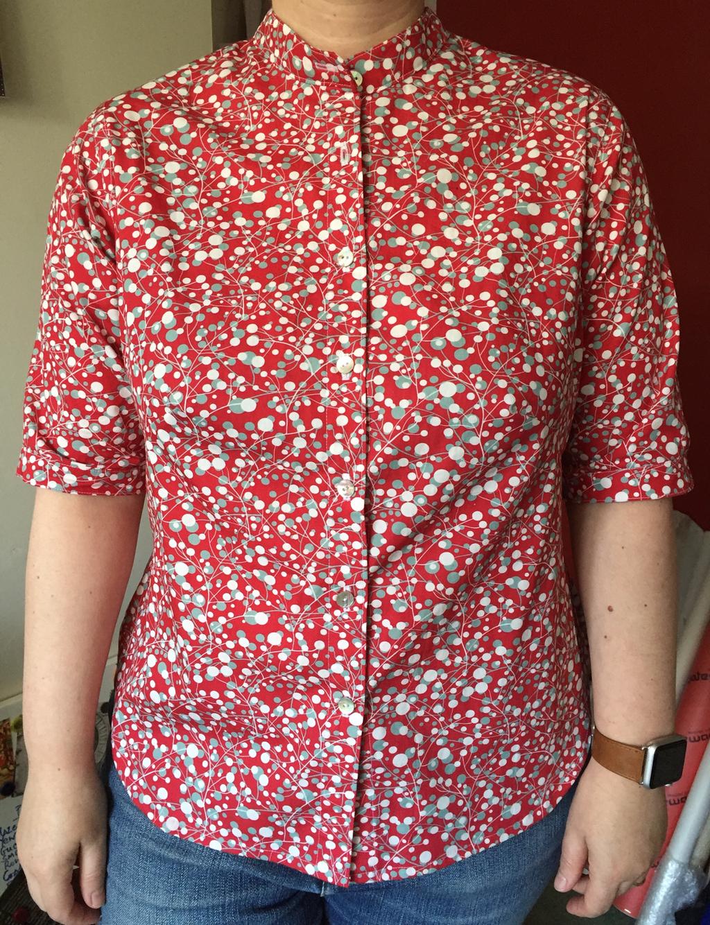Full view of shirt as worn
