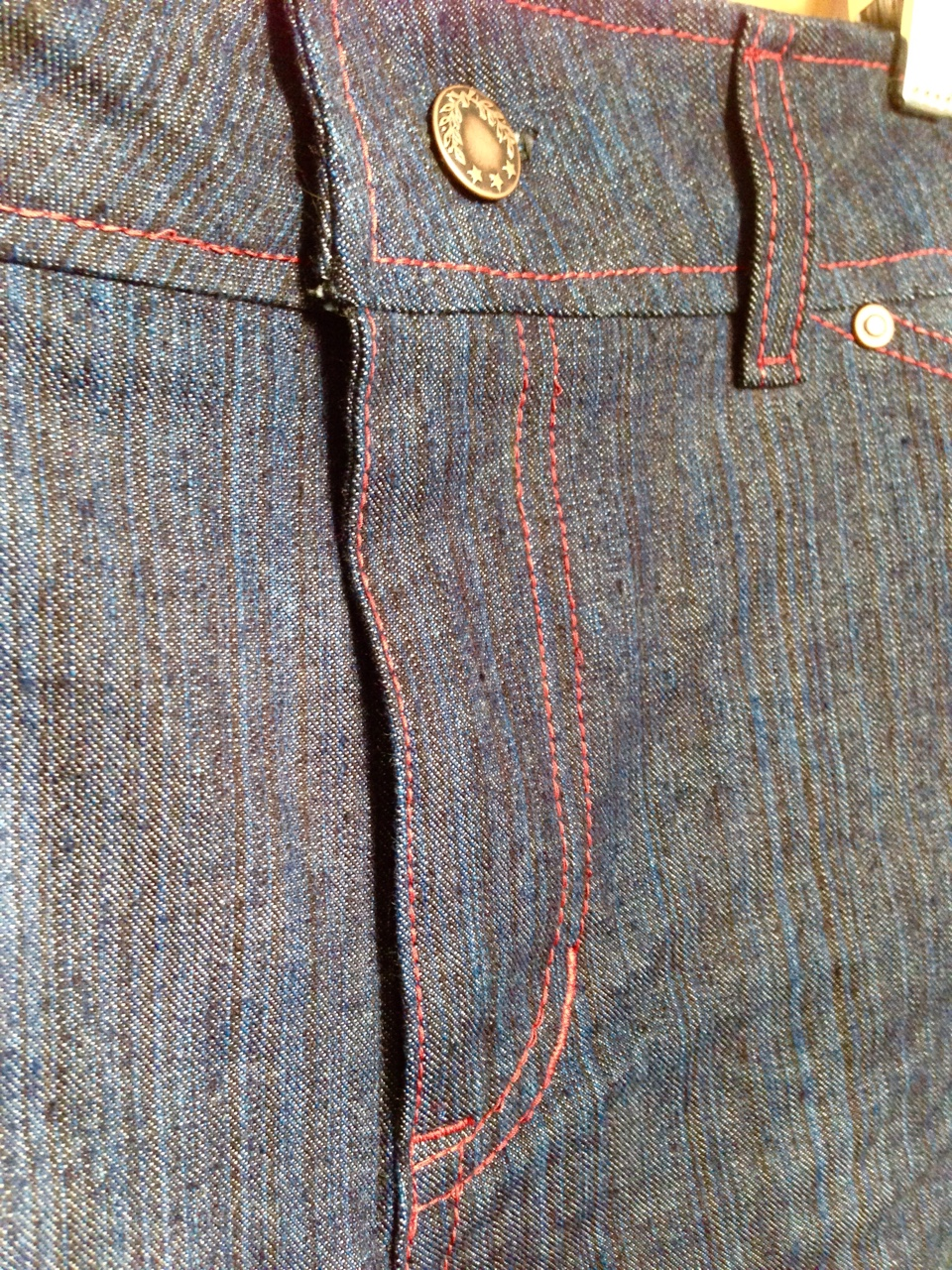 Jeans fly detail