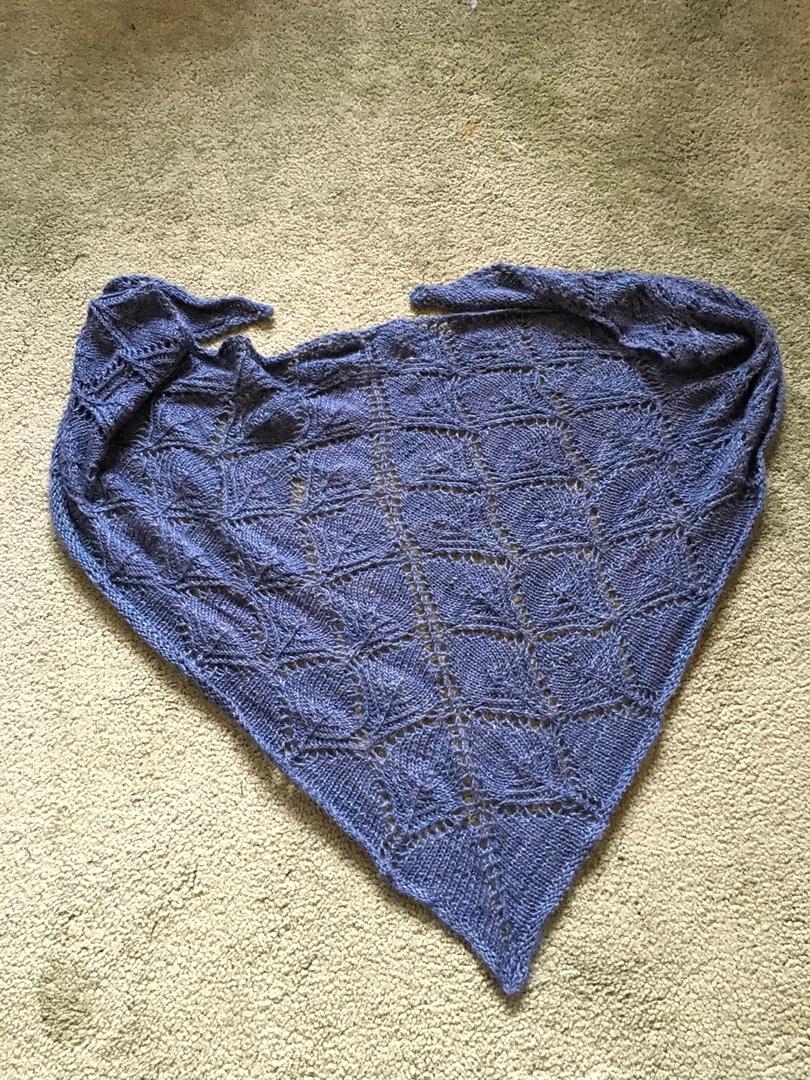 Fantoosh shawl - full view