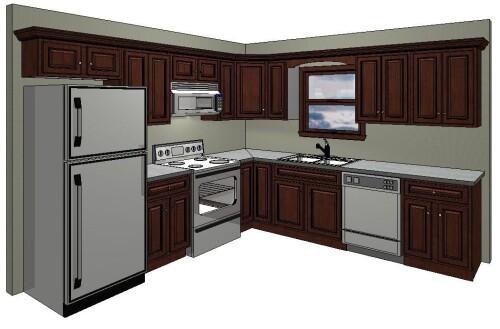 10x10 kitchen layout in the standard 10