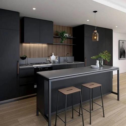 10 sophisticated black kitchen design