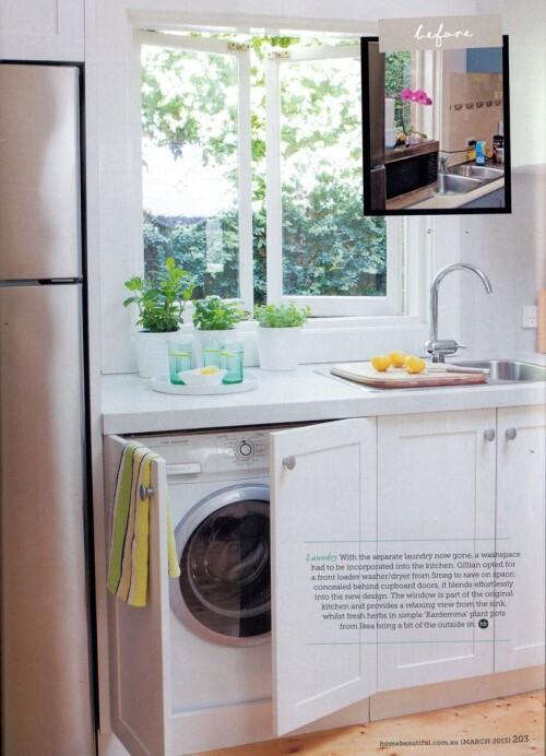 10 washing machine in kitchen ideas