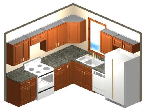 10 x 10 kitchen cabinet layout display