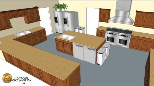 3d modeling kitchen design