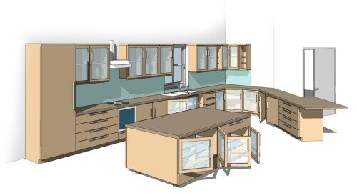 all in one revit kitchen family