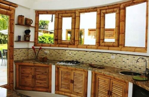 bamboo kitchen casas en bambu piso de