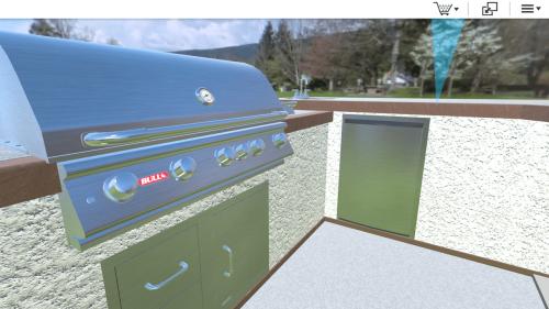 bull 3d outdoor kitchen design tool