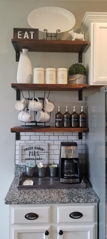 coffee bar in kitchen coffee bar home