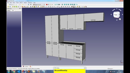 freecad kitchen cabinet assembly