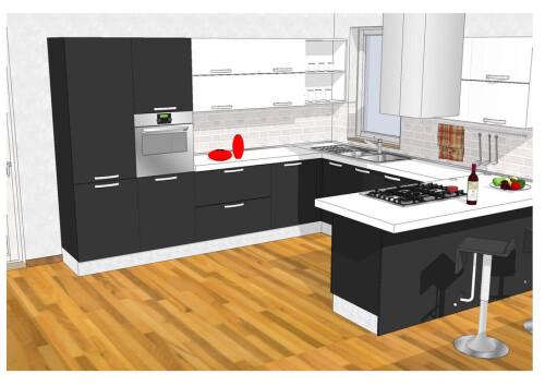 kitchen design 3d cad model library