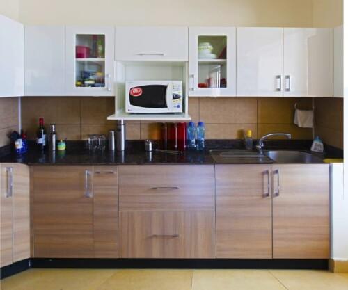kitchen design white and brown