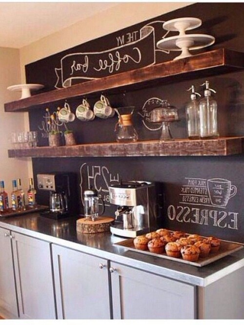 kitchen design with coffee bar