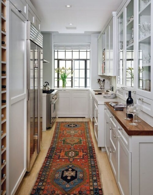 long rectangular kitchen design