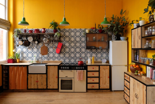 recycled materials kitchen design