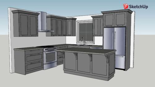 simple kitchen 3d warehouse