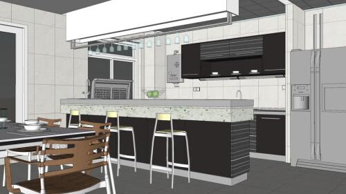 sketchup kitchen design free