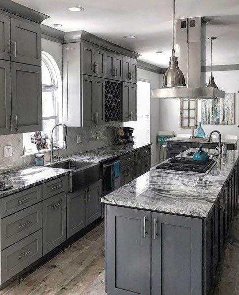 traditional grey kitchen design