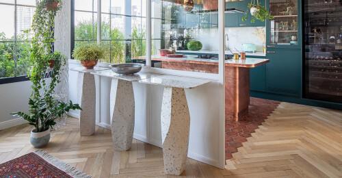 kitmo parquet flooring kitchen design in lebanon