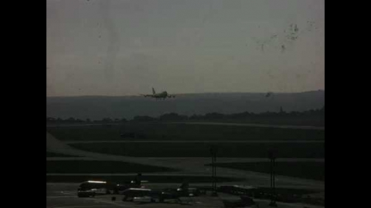 Paris, Orly Airport, TWA Airplane Landing, Taxiing, France, 1970
