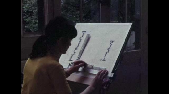 Abstract Artist Working in Studio, Paris, France, 1970s