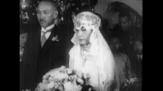 General Chiang Kai-shek and Soong Mei-ling Wedding Ceremony, China, 1927