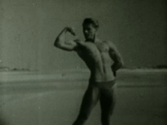 Young Male Physique, Fire Island Beach, New York, USA, 1950s