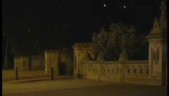 New York City, Central Park, Empty, Deserted, Spotlight Shining, Night, USA, 2010s