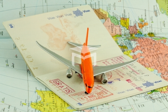 passeport, voyage par avion, taxes d