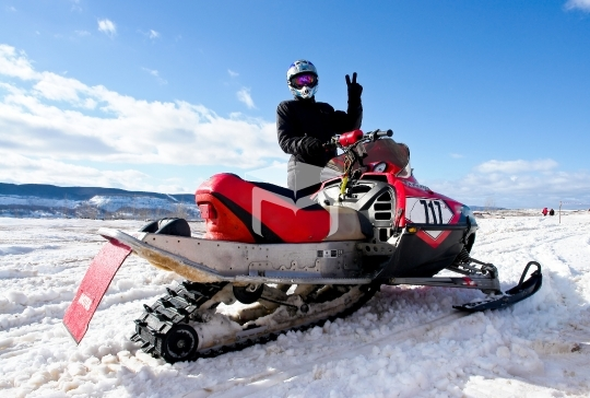 Competitions on snowmobile
