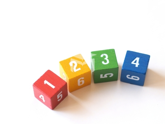 colorful numbered blocks for learning (i)