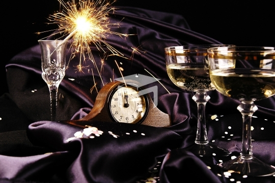 Midnight toast for the New Year