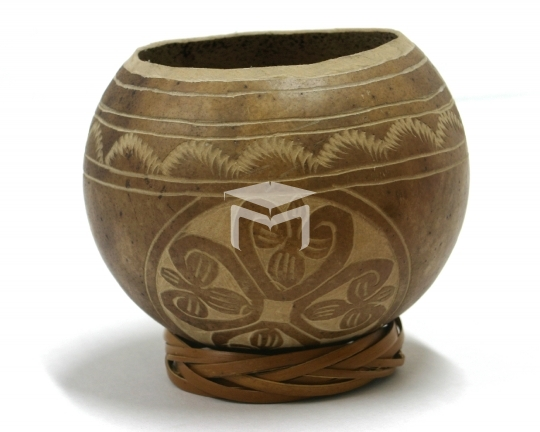 handcrafted wood carving bowl