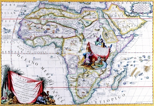Antique Maps of the World,Map,Map of Africa,Vincenzo Coronelli,1692