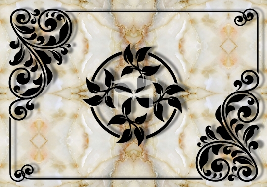 marble texture and black motif