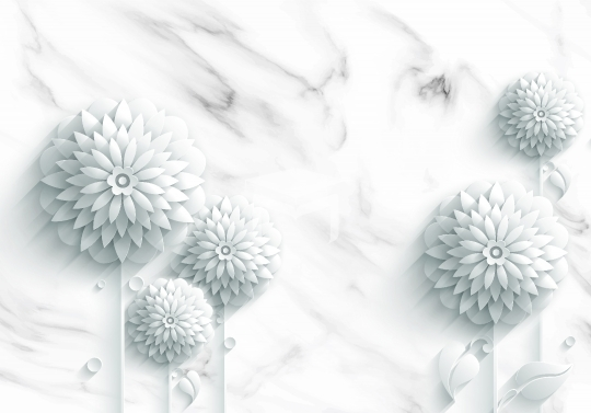 marble texture and flower design