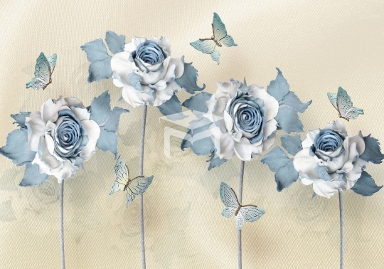 3d flower design wall mural
