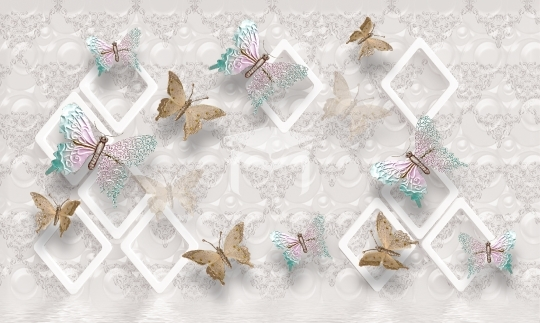 butterfly design tv background