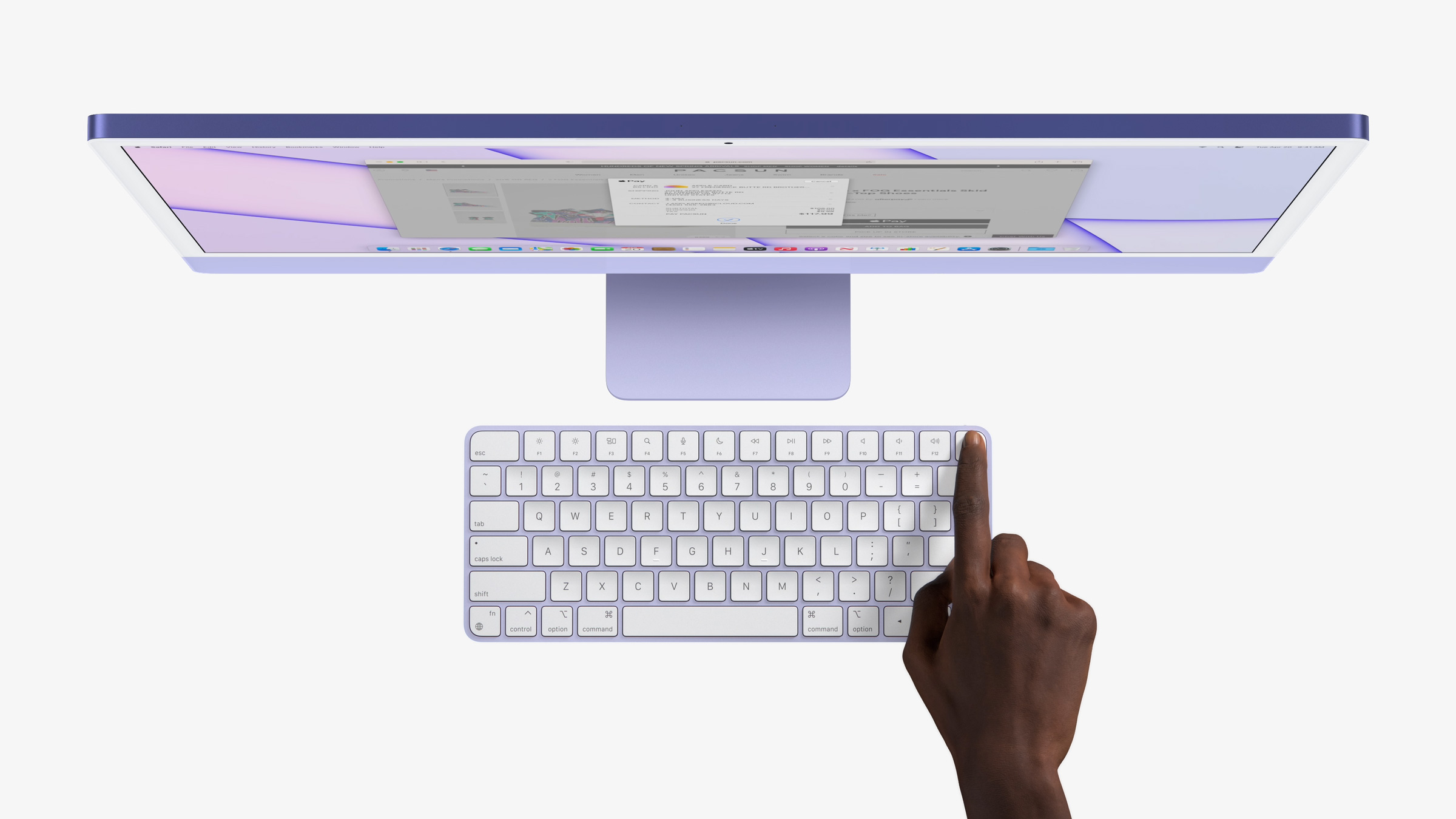 Apple's new iMac keyboards include Touch ID.
