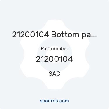 21200104 — SAC — 21200104 Bottom part UNIFLOW 2 s/s в каталоге запчастей SAC на scanros.com