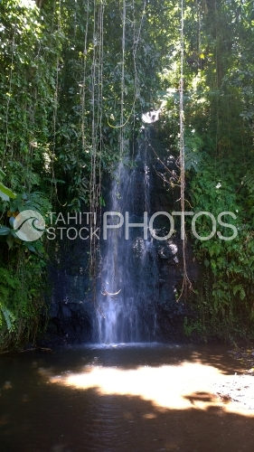 Waterfall of Vaipahi garden