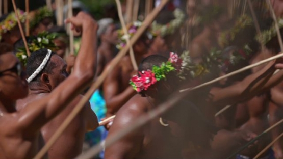 Heiva Tahiti, Traditional sports of Polynesia, Men throwing their Javelin during competition