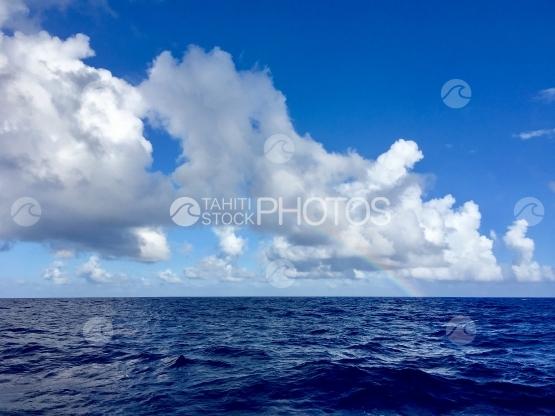 Rainbow over the open sea