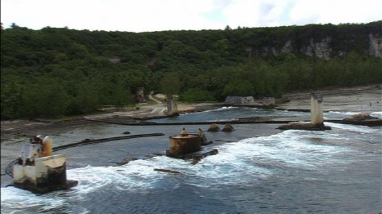 Makatea, remnants of phosphate mining
