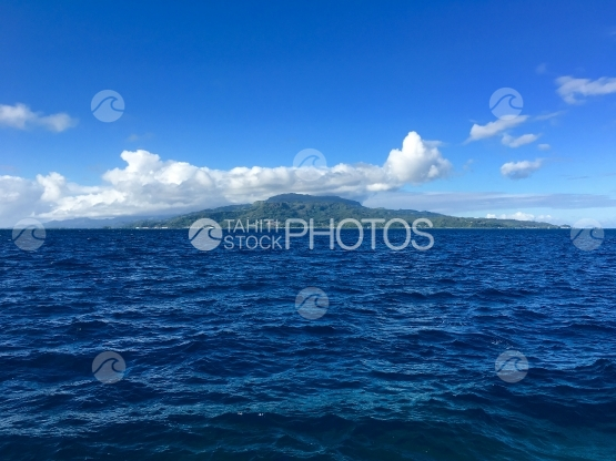 Raiatea seen from the ocean