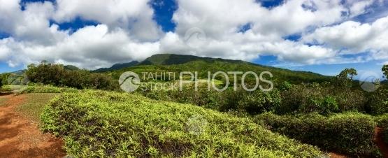 Tahiti Iti,  PanoramicvView from the plateau de Taravao on mounts
