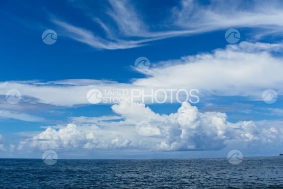 Ocean, Sky and clouds
