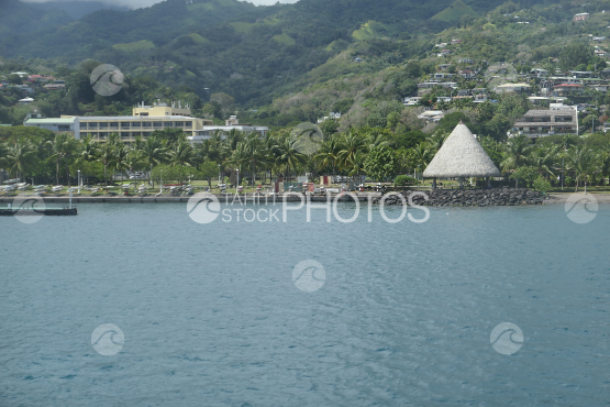 Coast line of Tahiti, harbour of Papeete