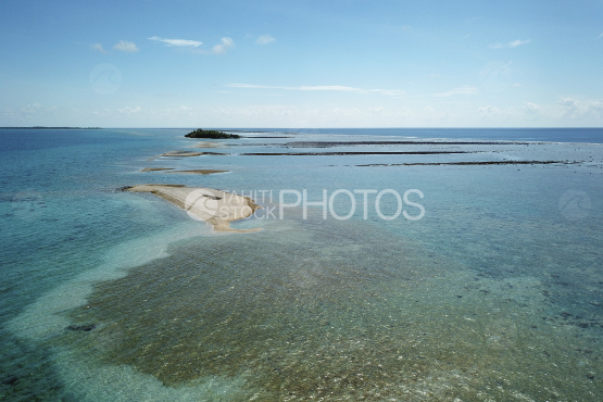 Fakarava, aerial shot of the lagoon