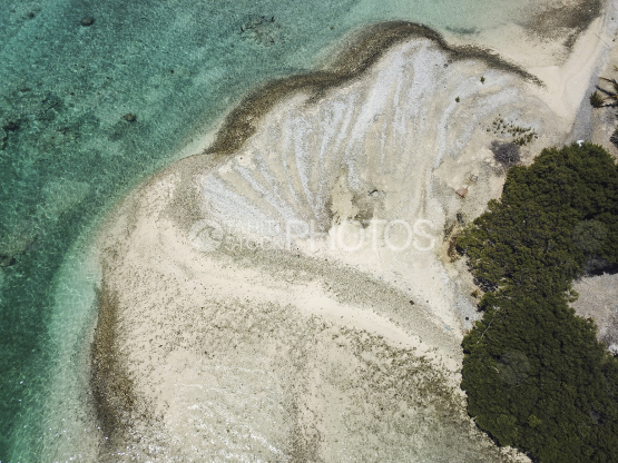 Toau, aerial shot of the reef and island