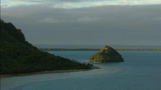 Raivavae, Austral island, over the lagoon